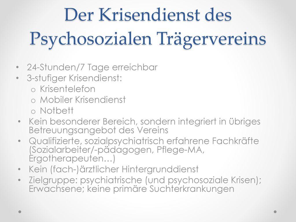 Der Krisendienst des Psychosozialen Trägervereins