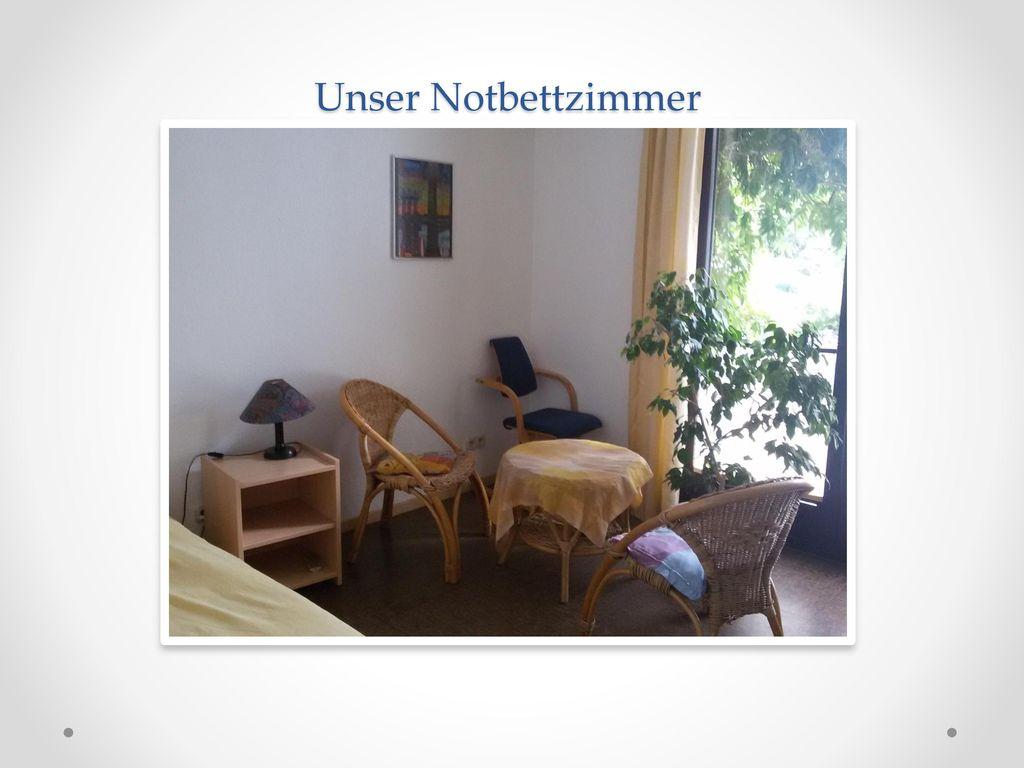 Unser Notbettzimmer