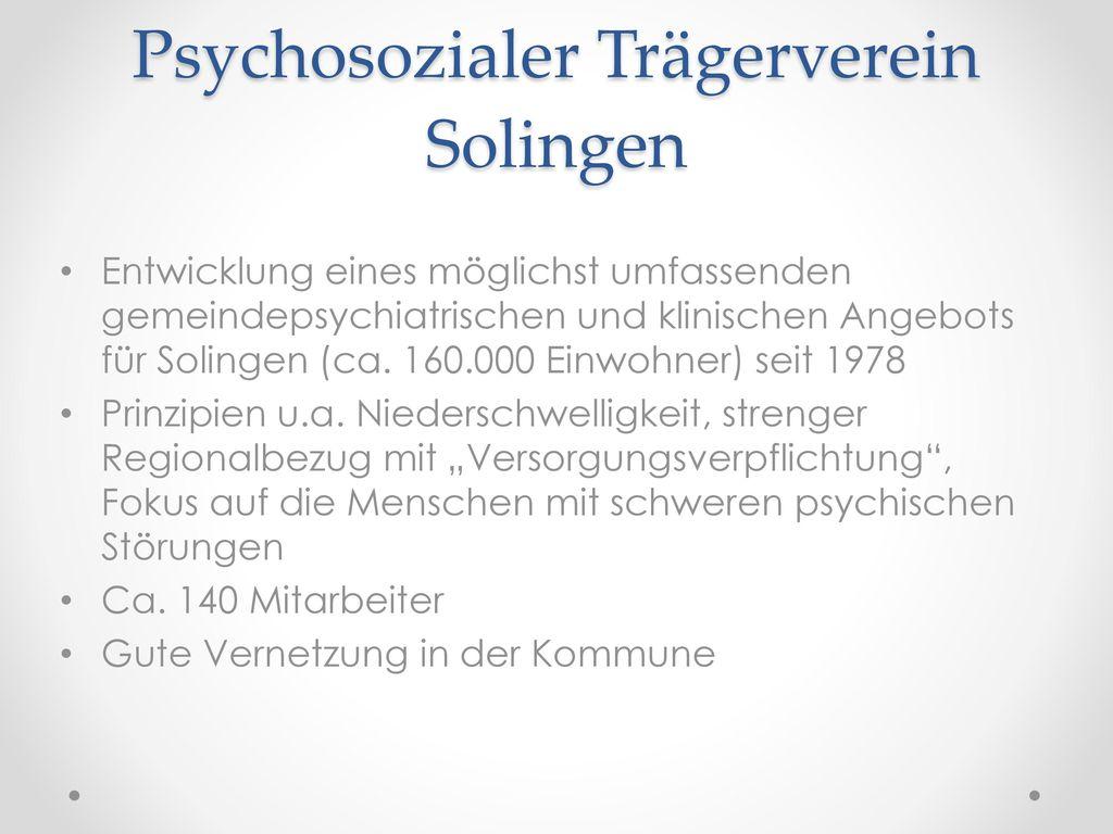 Der Psychosozialer Trägerverein Solingen