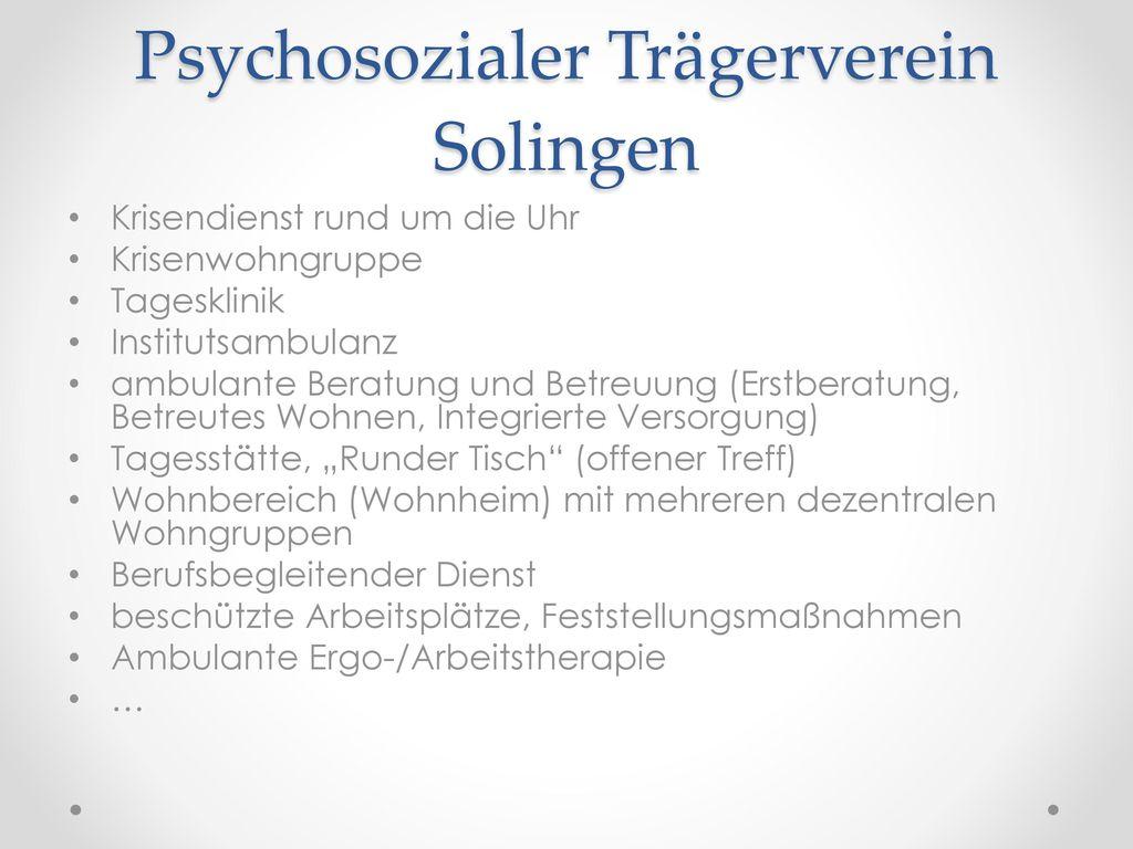 Psychosozialer Trägerverein Solingen