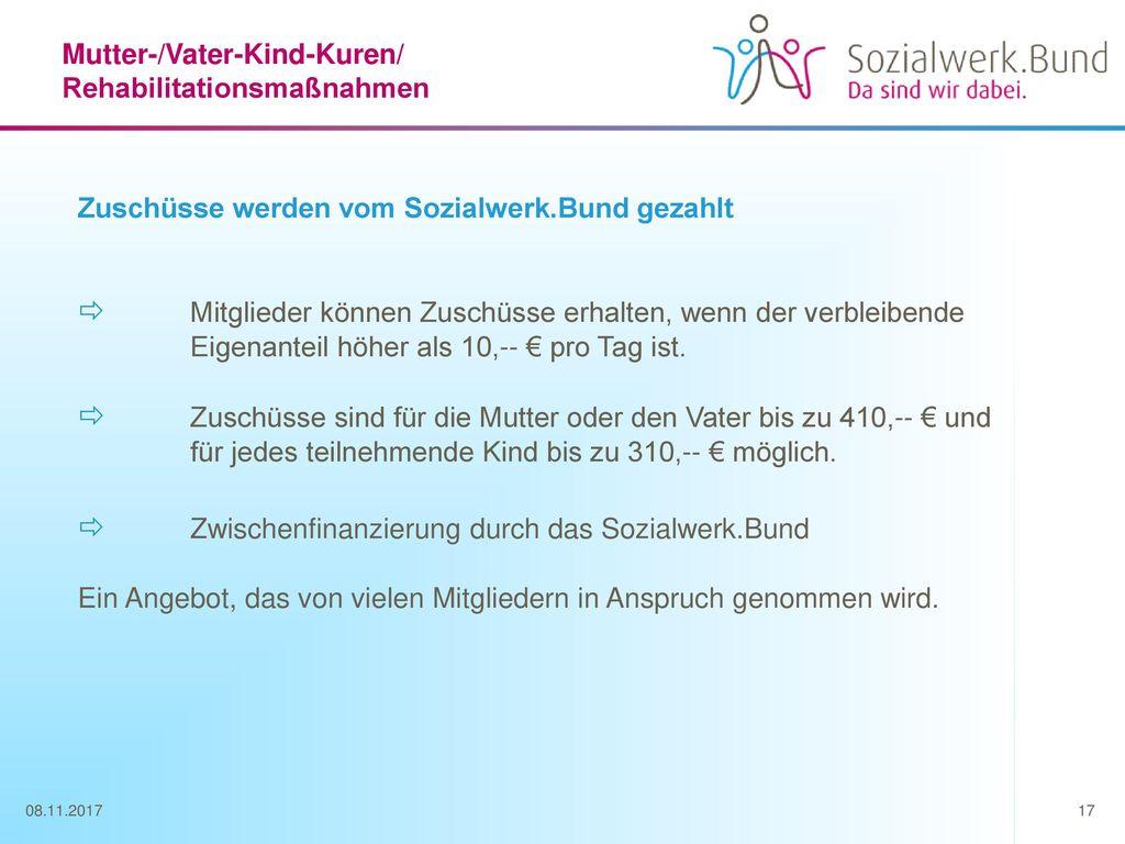  Zwischenfinanzierung durch das Sozialwerk.Bund