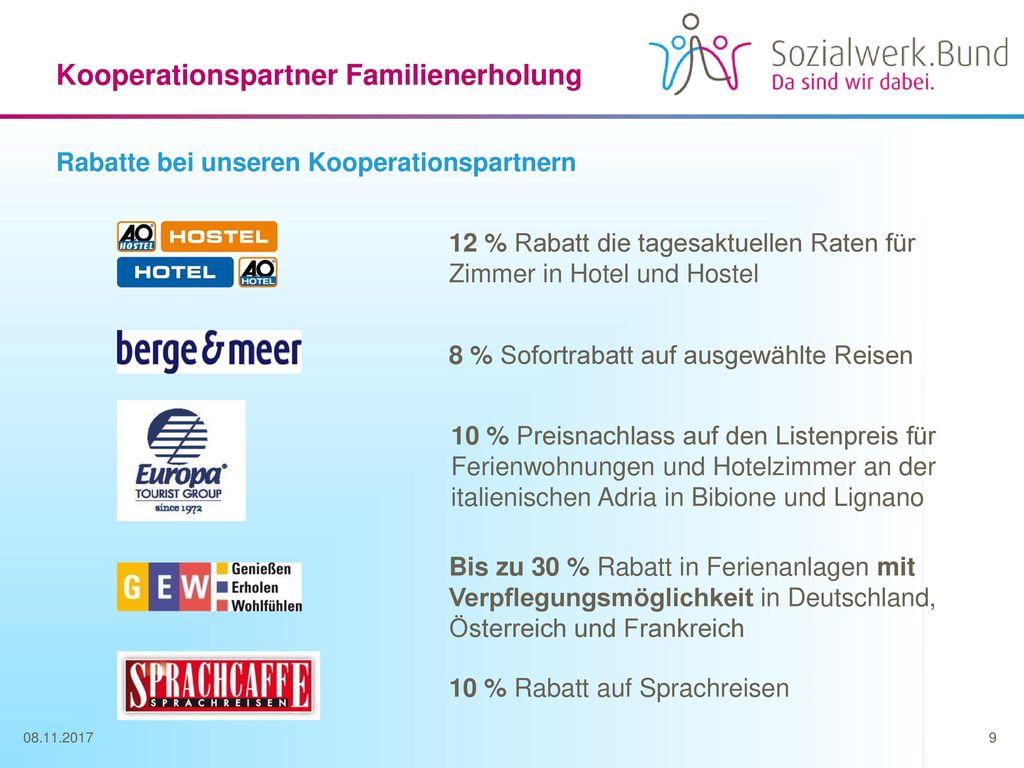 Kooperationspartner Familienerholung