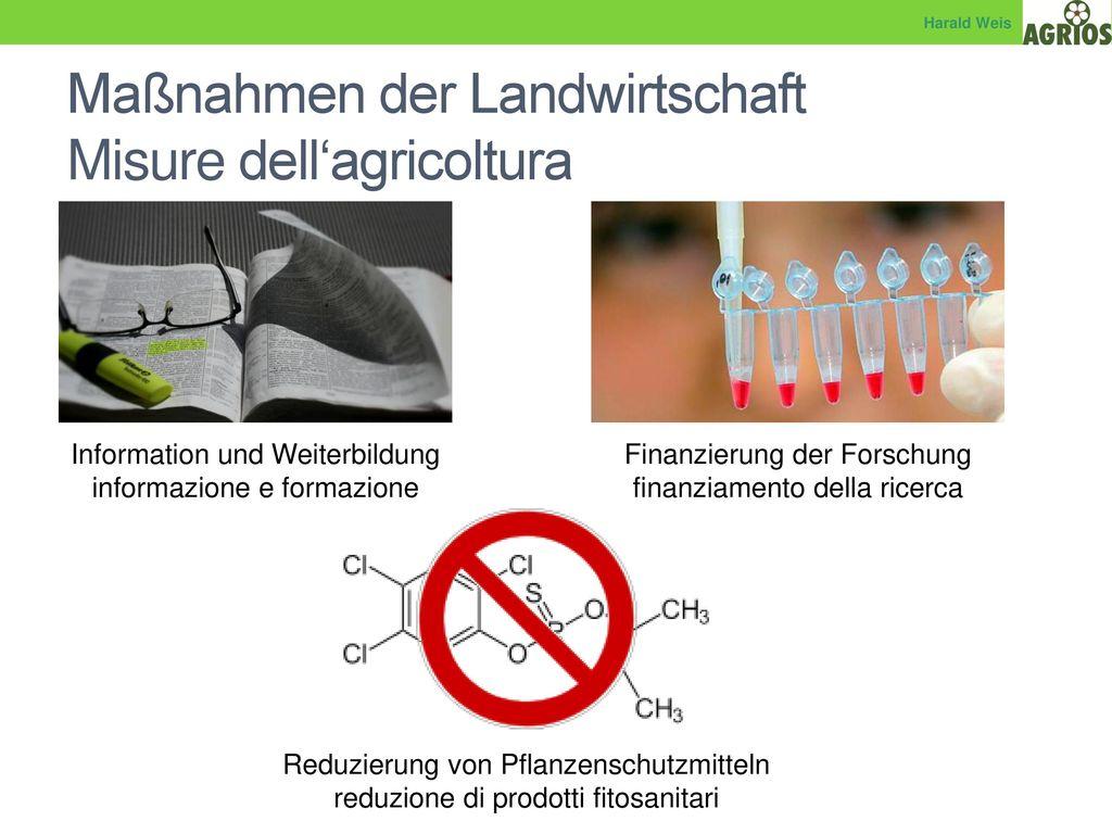 Maßnahmen der Landwirtschaft Misure dell'agricoltura