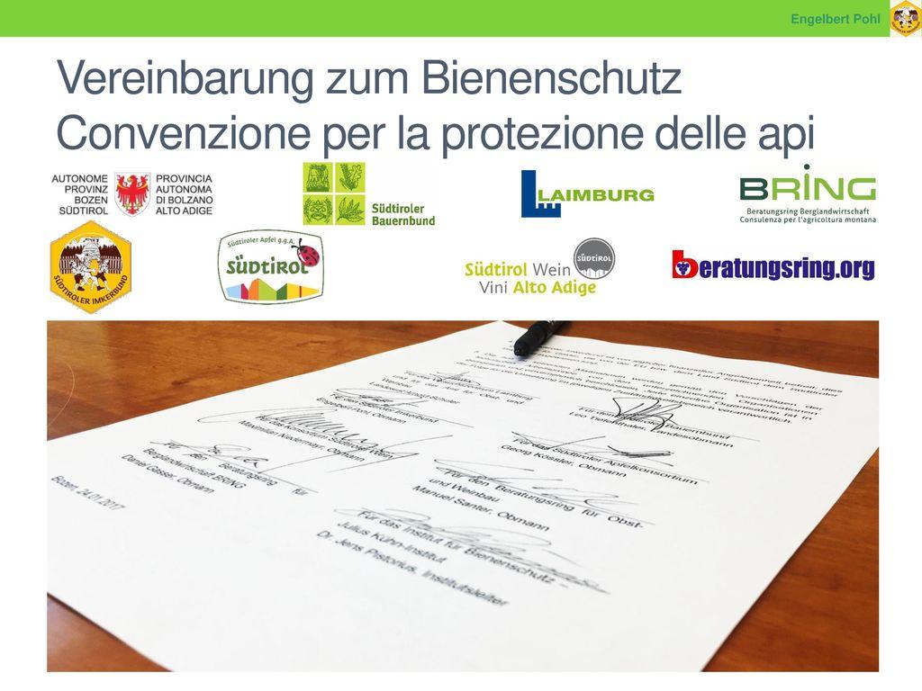 Vereinbarung zum Bienenschutz Convenzione per la protezione delle api