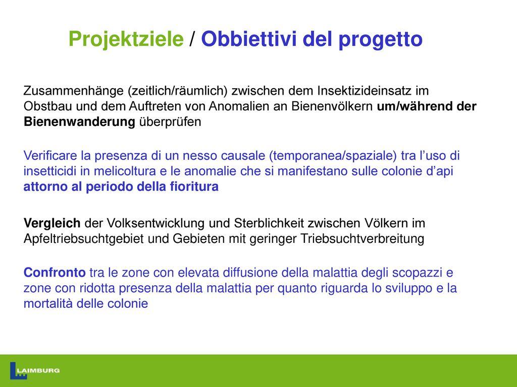 Projektziele / Obbiettivi del progetto