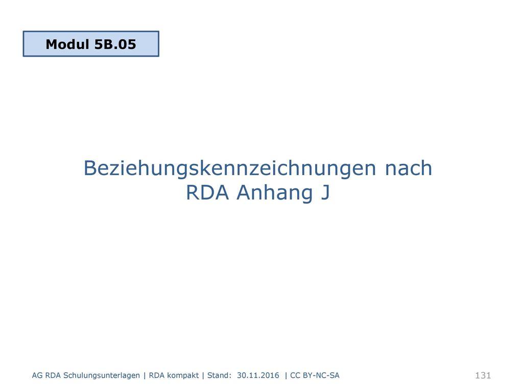 Beziehungskennzeichnungen nach RDA Anhang J