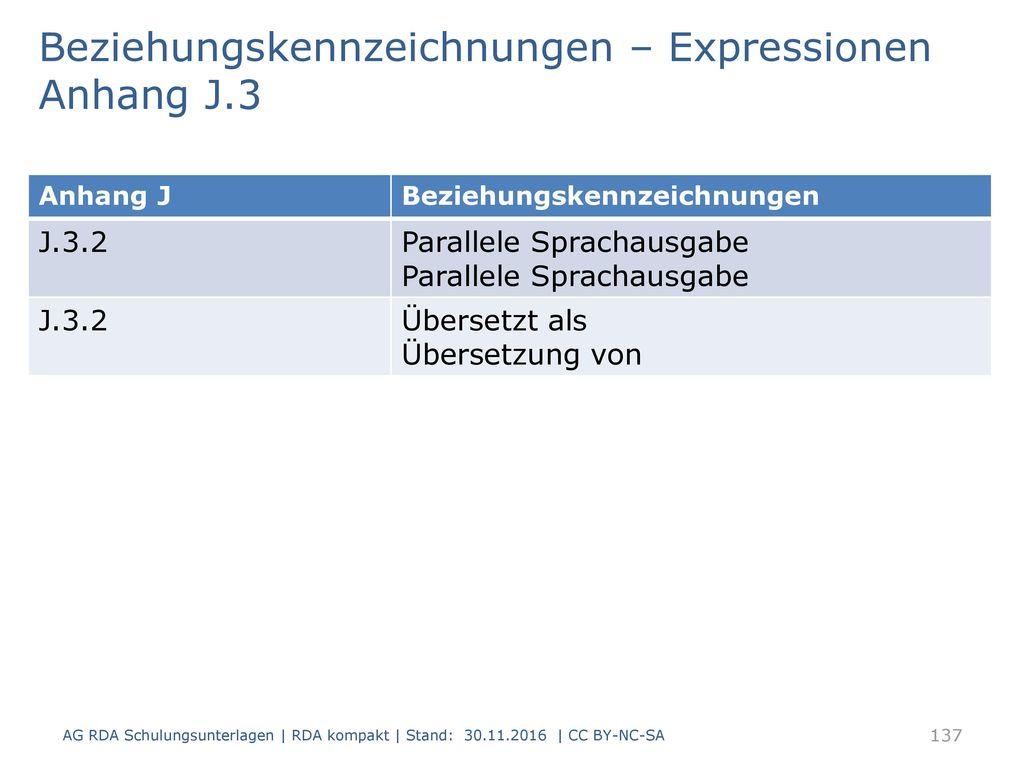 Beziehungskennzeichnungen – Expressionen Anhang J.3