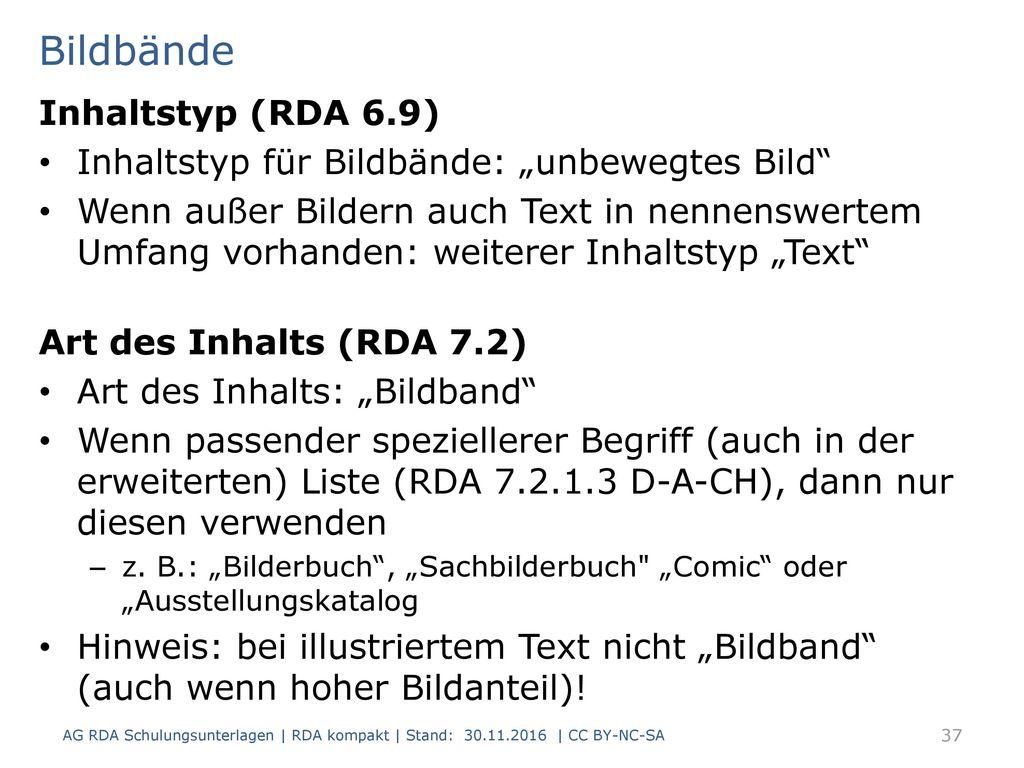 Bildbände Inhaltstyp (RDA 6.9)