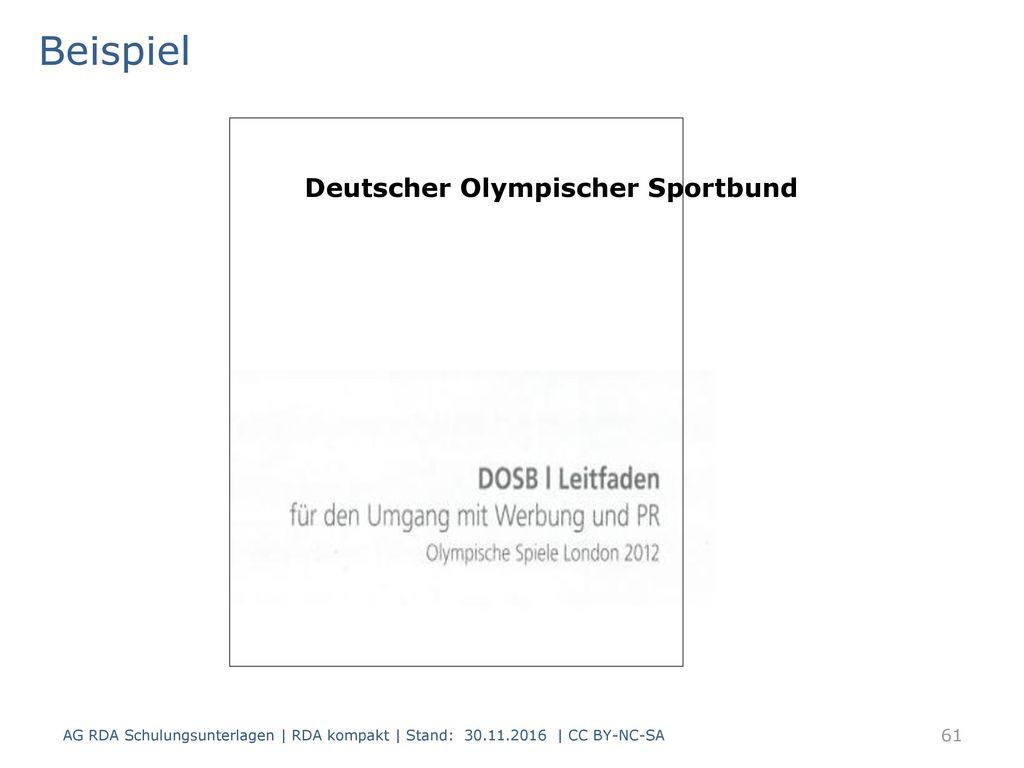 Beispiel Deutscher Olympischer Sportbund