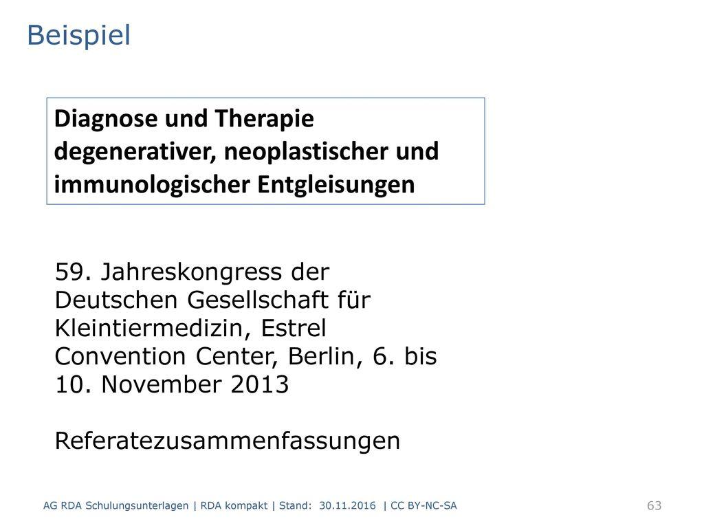 Beispiel Diagnose und Therapie degenerativer, neoplastischer und immunologischer Entgleisungen.