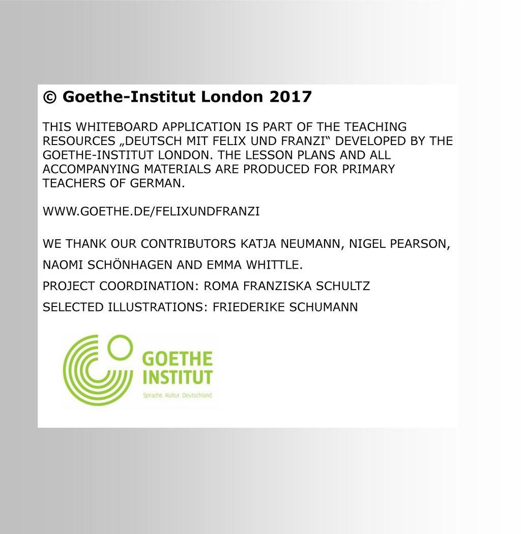 © Goethe-Institut London 2017