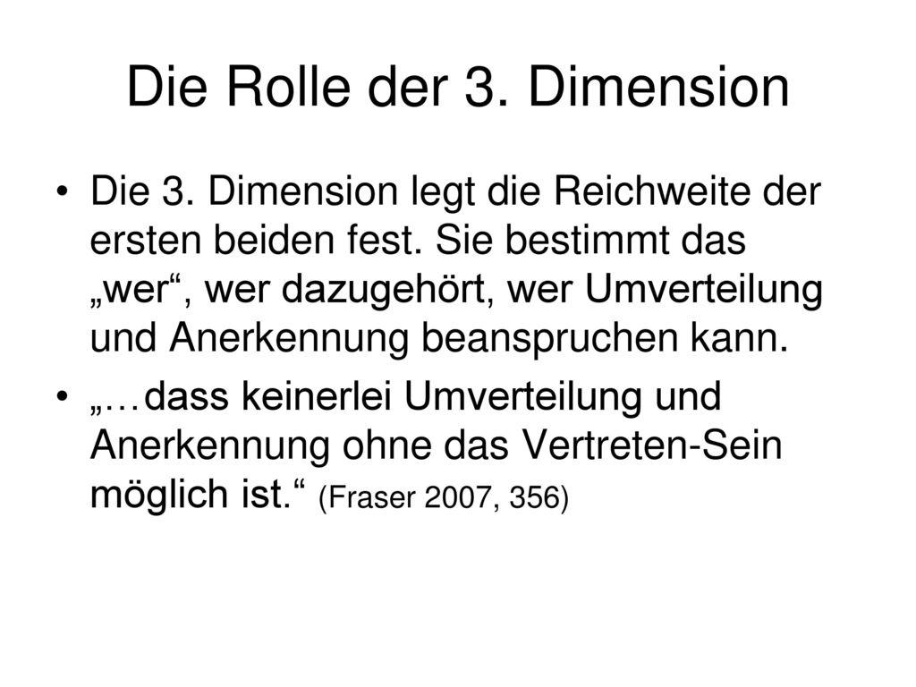 Die Rolle der 3. Dimension