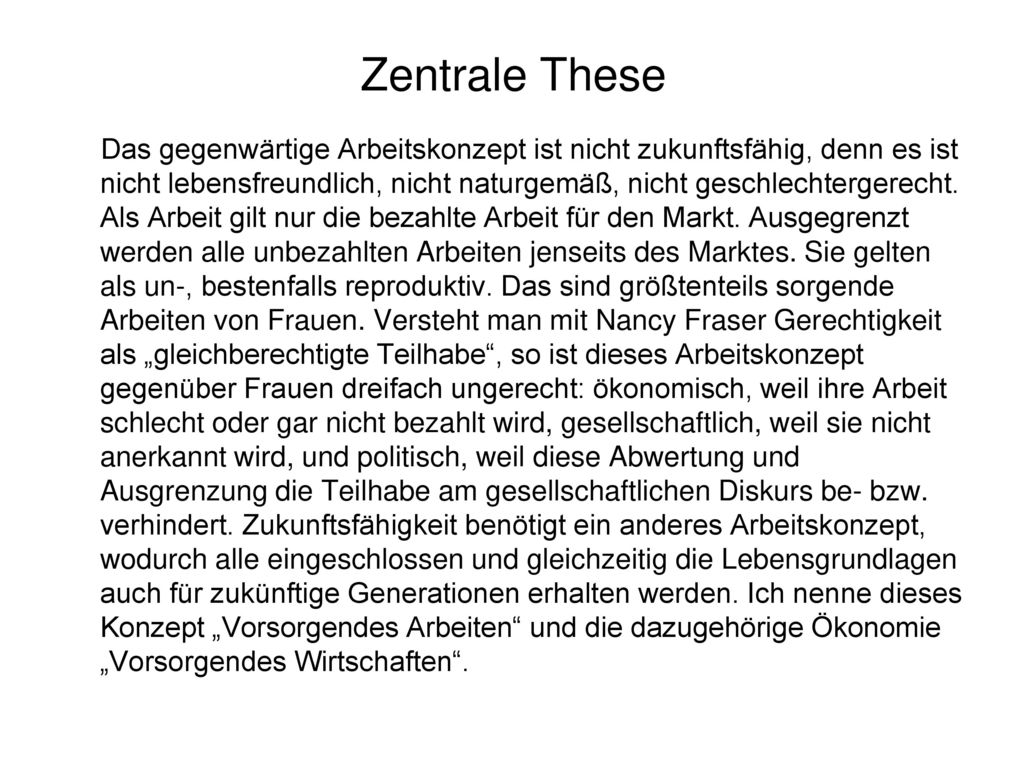 Zentrale These