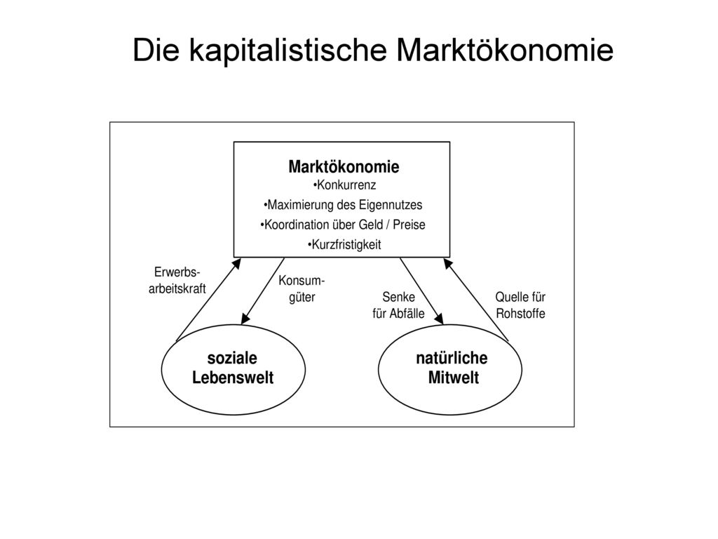 Die kapitalistische Marktökonomie