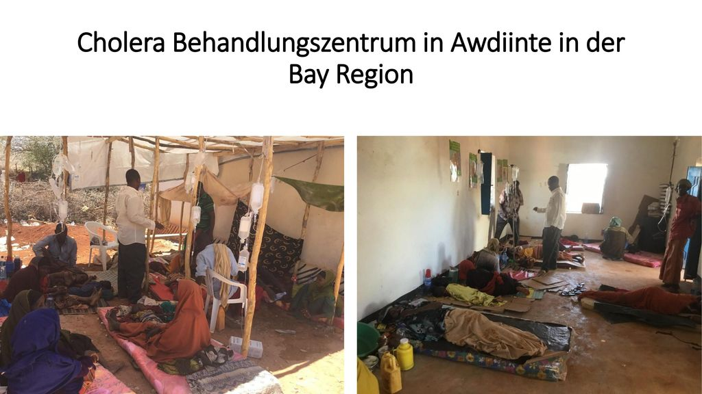 Cholera Behandlungszentrum in Awdiinte in der Bay Region