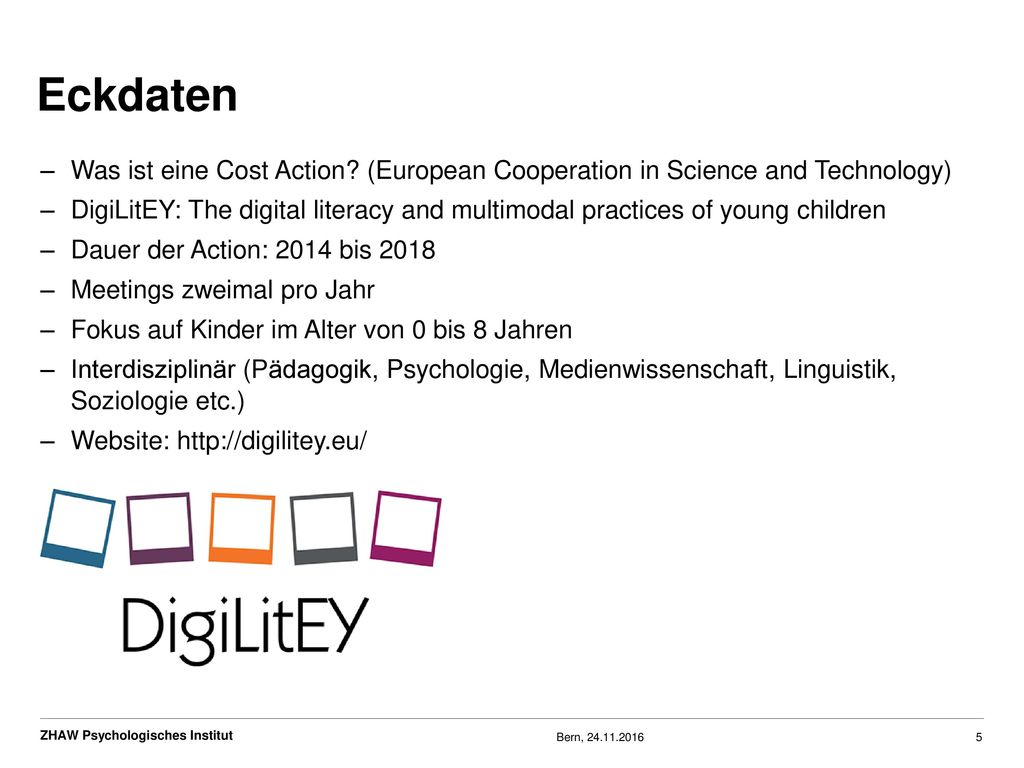 Eckdaten Was ist eine Cost Action (European Cooperation in Science and Technology)