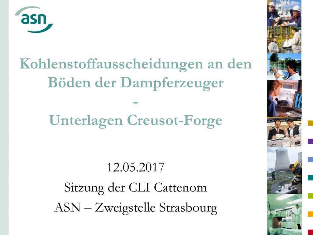 12.05.2017 Sitzung der CLI Cattenom ASN – Zweigstelle Strasbourg