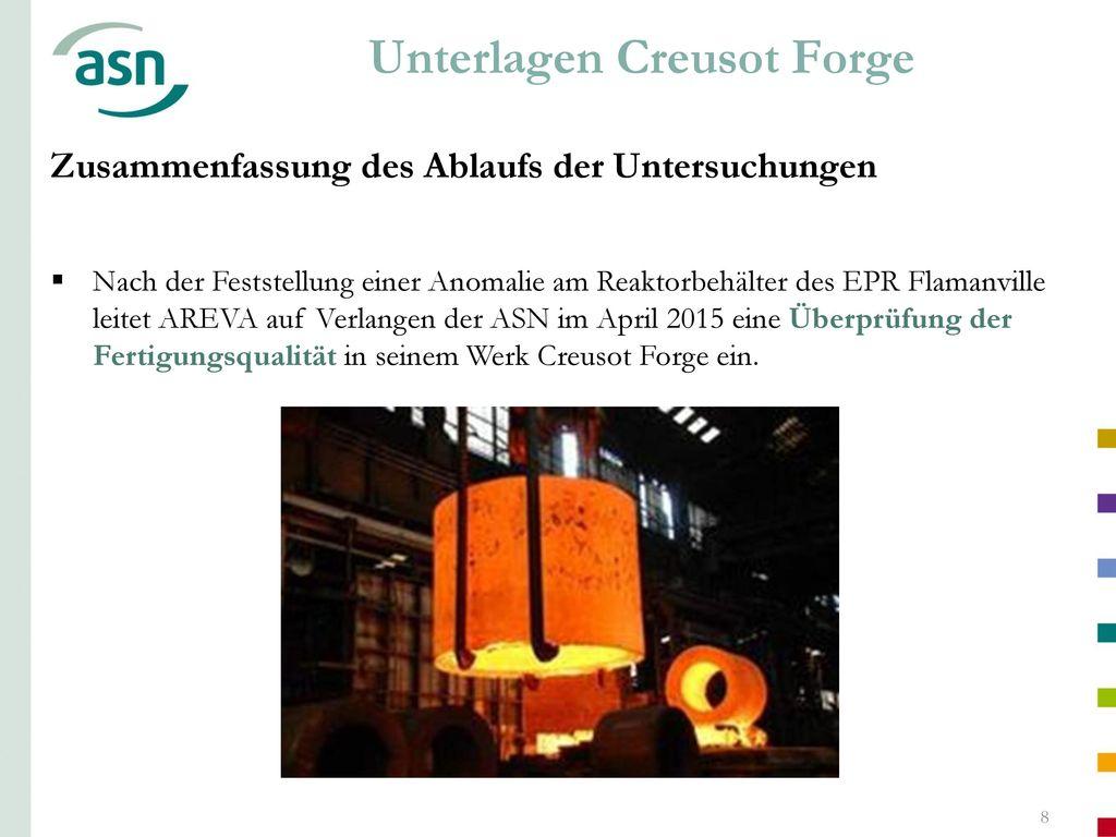 Unterlagen Creusot Forge