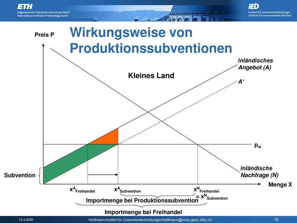 Produktionssubventionen