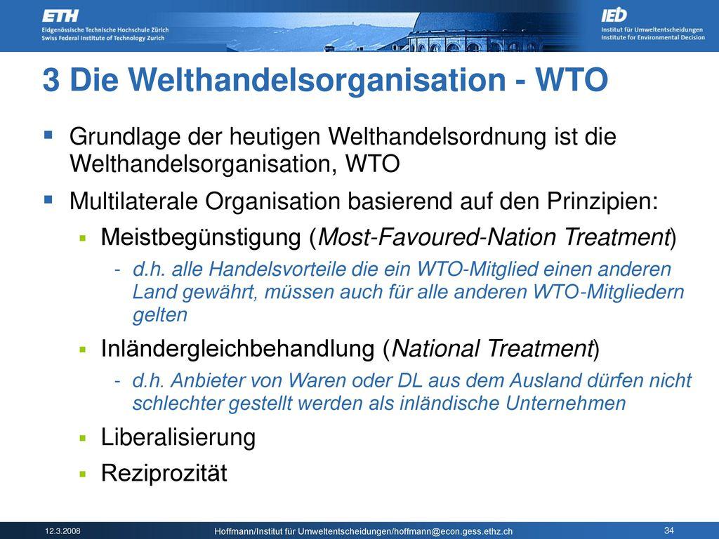 3 Die Welthandelsorganisation - WTO