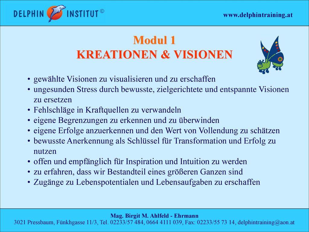 Modul 1 KREATIONEN & VISIONEN Mag. Birgit M. Ahlfeld - Ehrmann