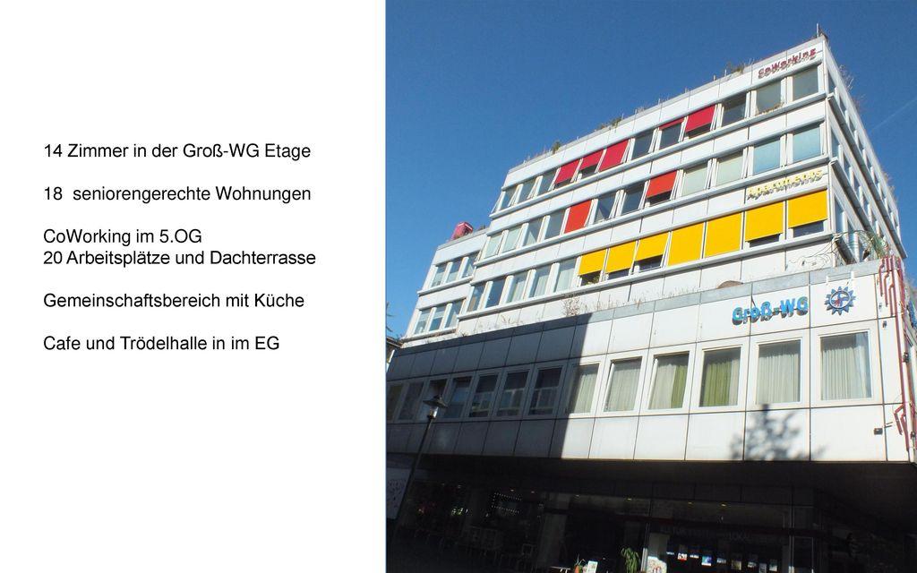 14 Zimmer in der Groß-WG Etage