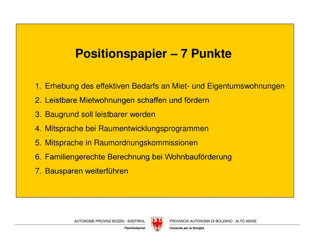 Positionspapier – 7 Punkte