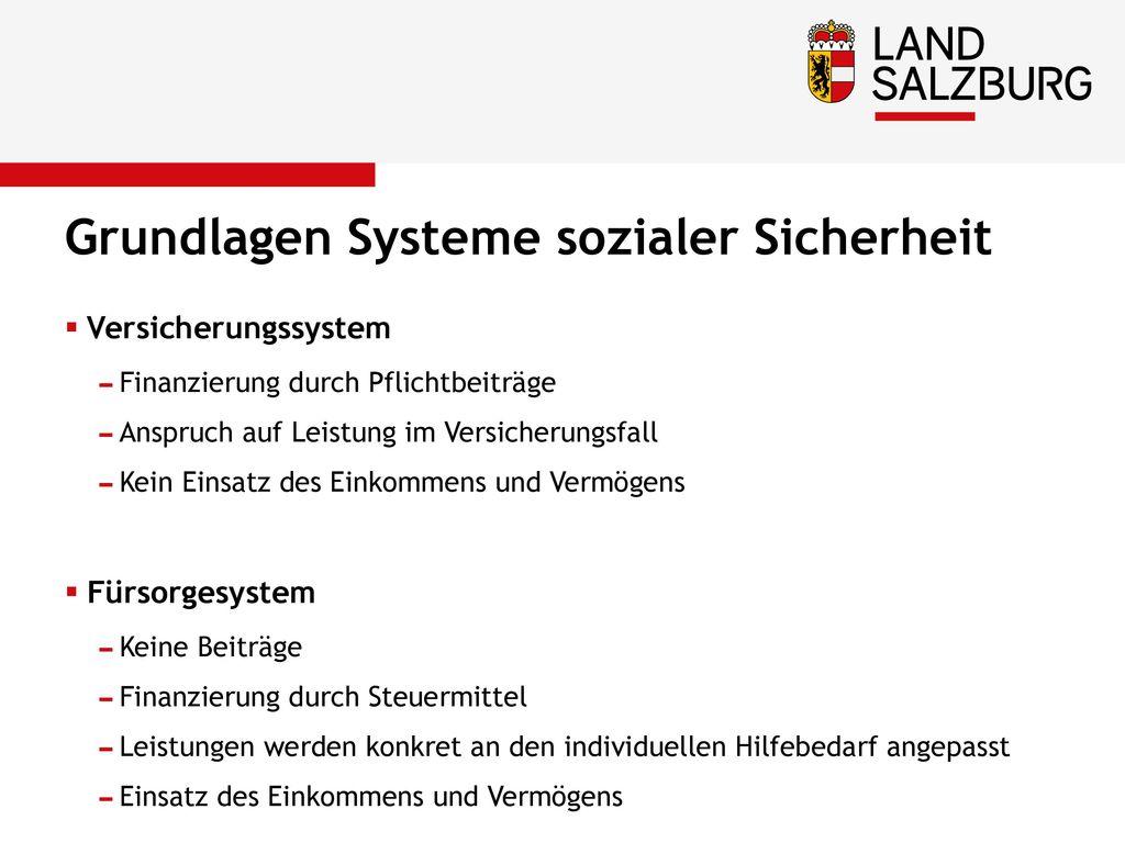 Grundlagen Systeme sozialer Sicherheit