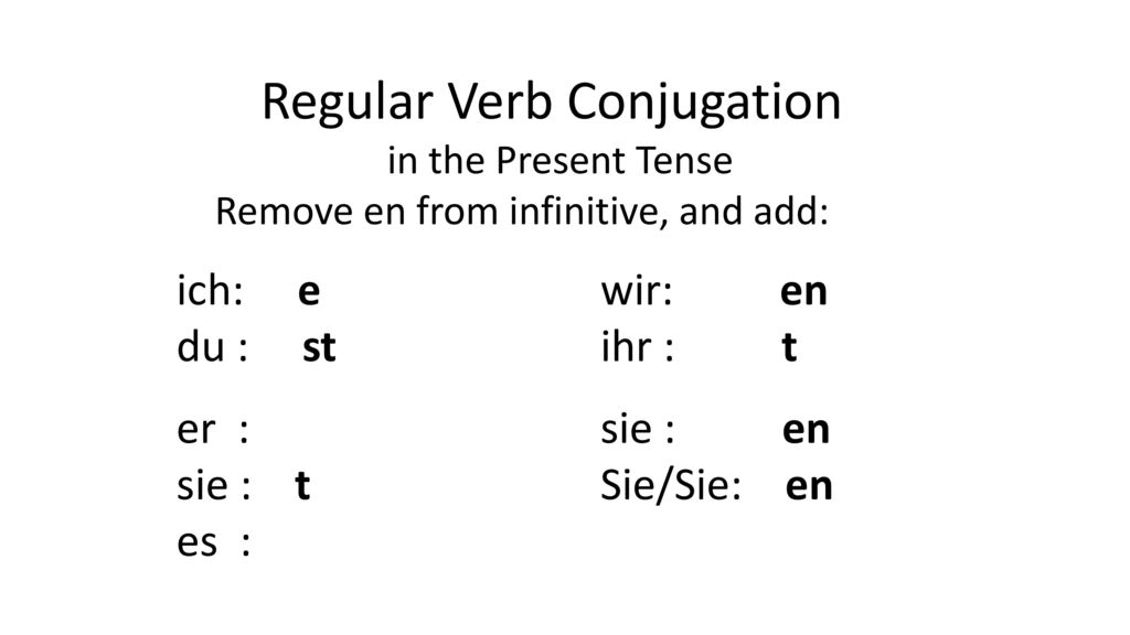 Regular Verb Conjugation
