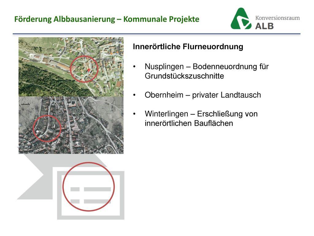 Förderung Albbausanierung – Kommunale Projekte