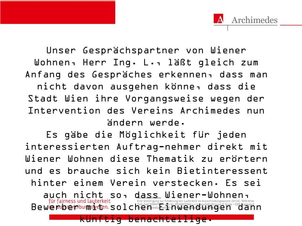 Unser Gesprächspartner von Wiener Wohnen, Herr Ing. L