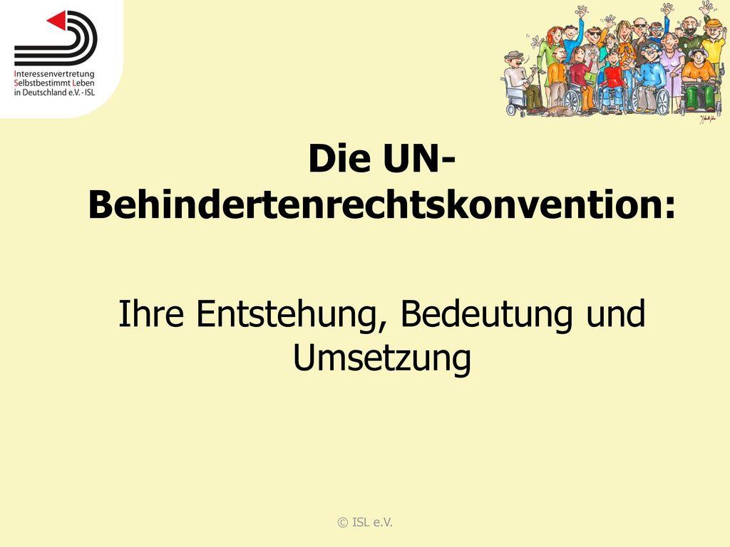 Die UN-Behindertenrechtskonvention: