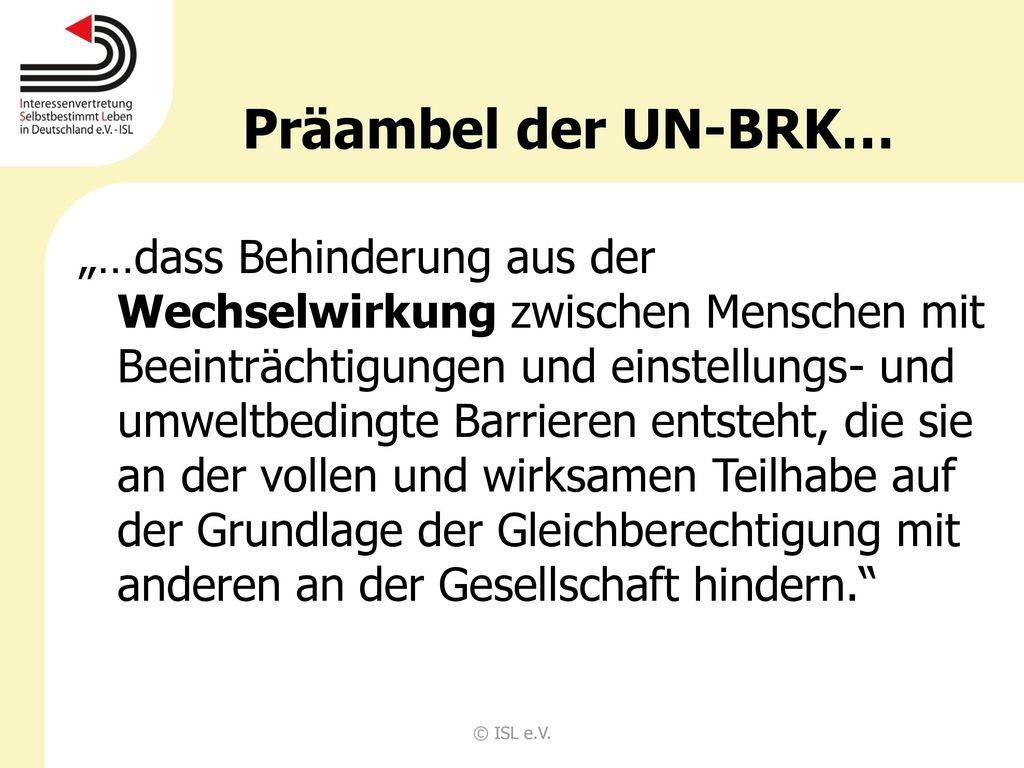 Präambel der UN-BRK…