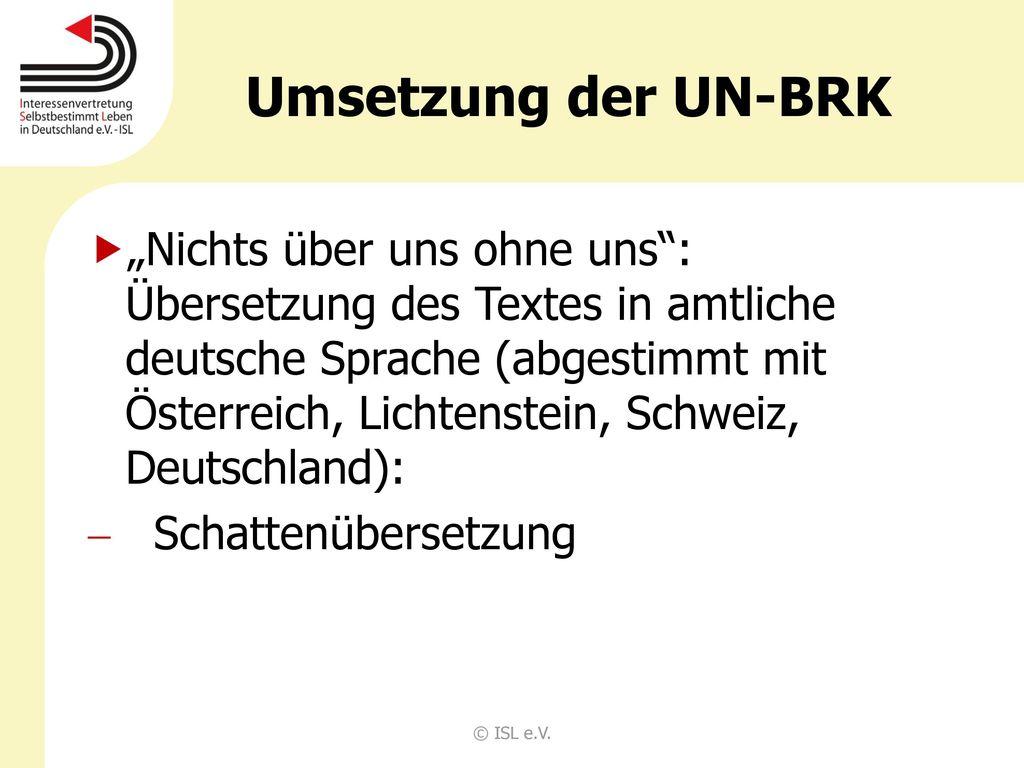 Umsetzung der UN-BRK