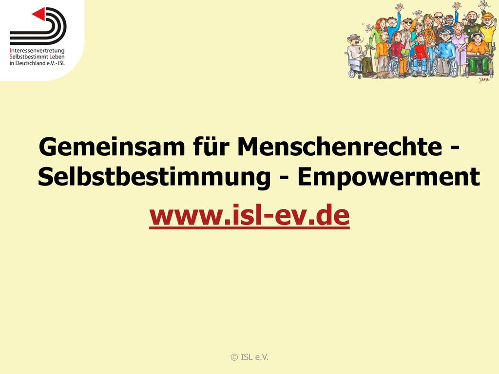 Gemeinsam für Menschenrechte - Selbstbestimmung - Empowerment