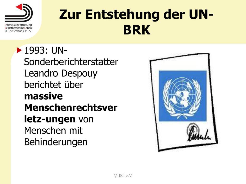 Zur Entstehung der UN-BRK