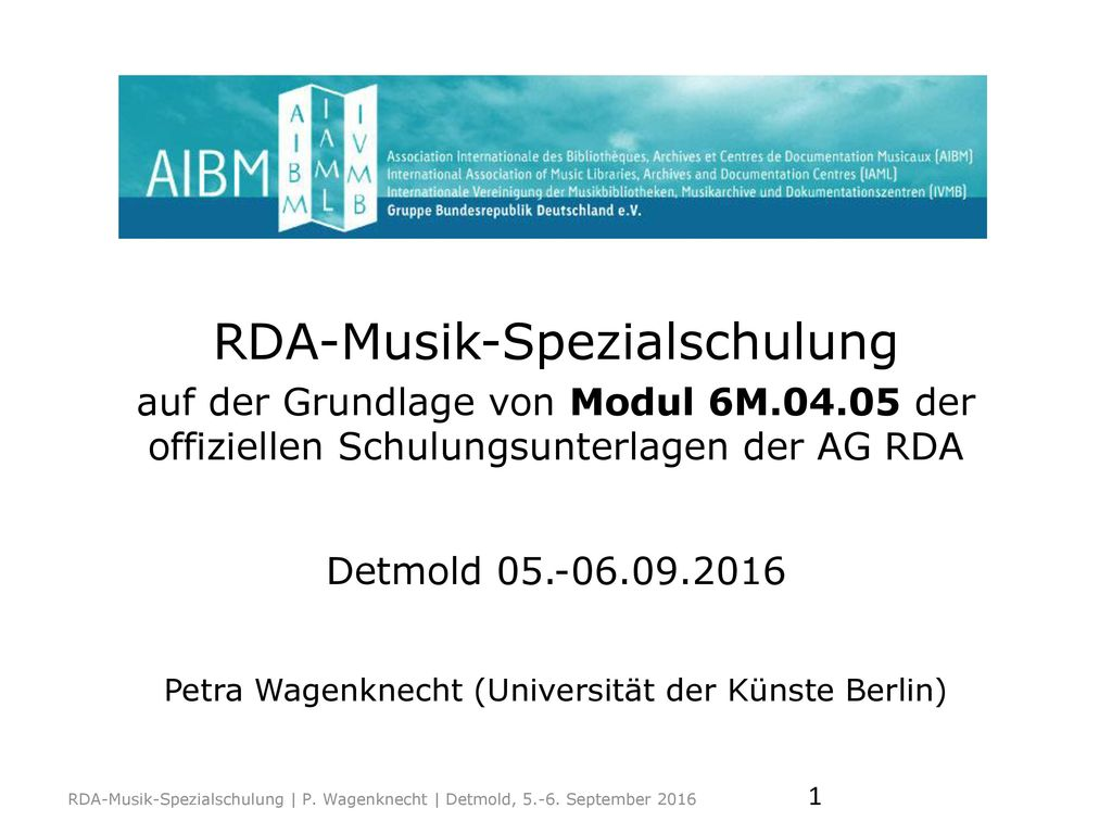 RDA-Musik-Spezialschulung