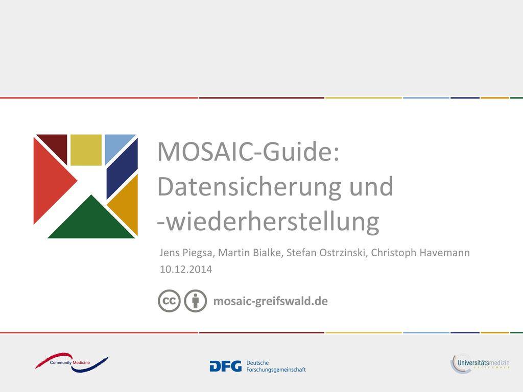 MOSAIC-Guide: Datensicherung und -wiederherstellung