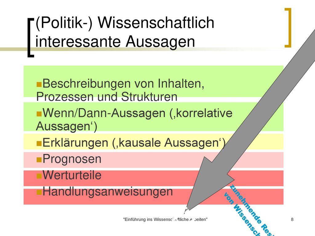 (Politik-) Wissenschaftlich interessante Aussagen