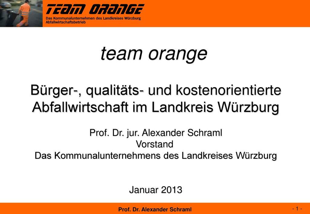 team orange Bürger-, qualitäts- und kostenorientierte