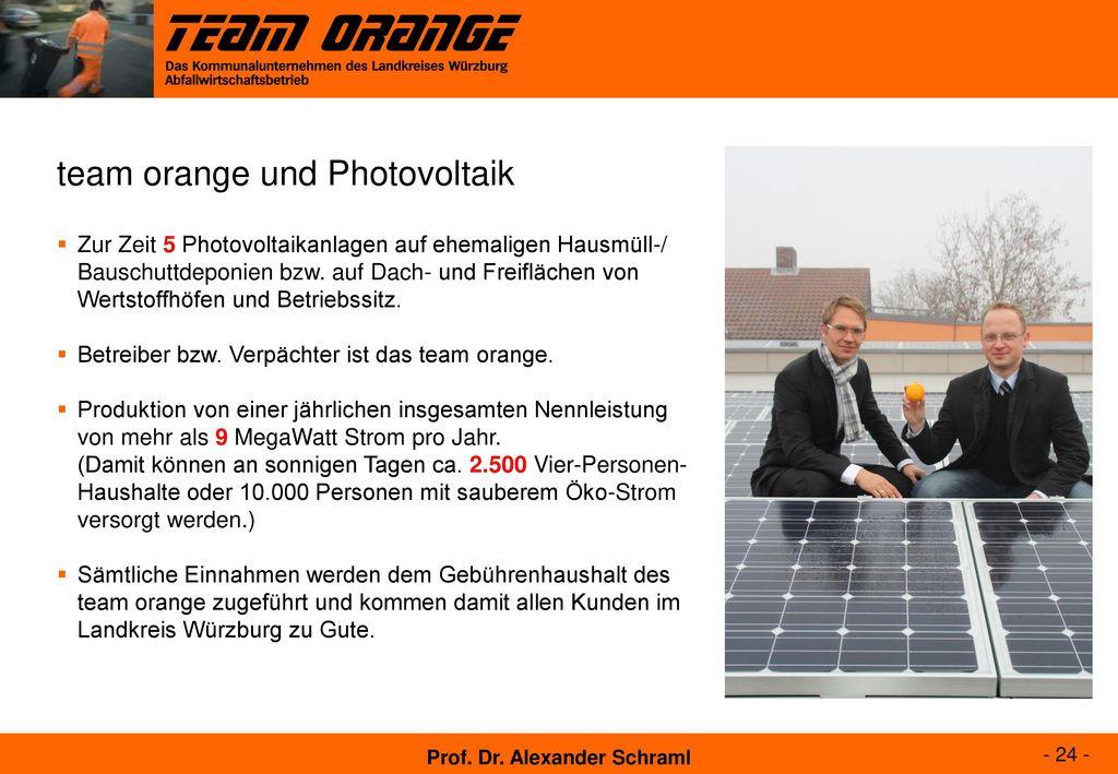 team orange und Photovoltaik