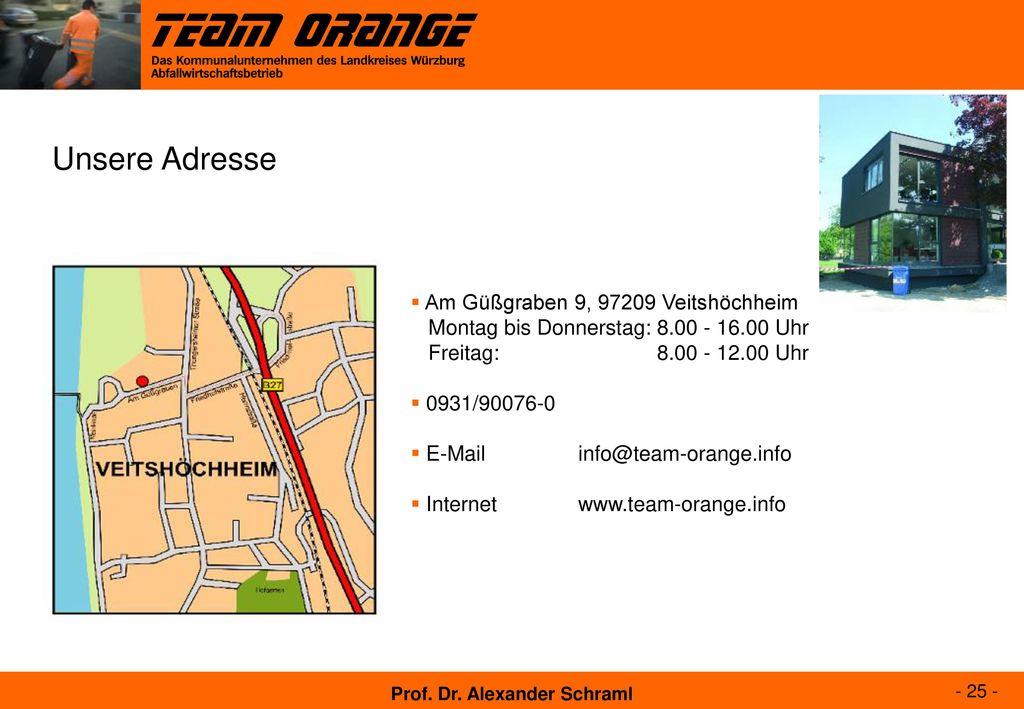 Unsere Adresse Am Güßgraben 9, 97209 Veitshöchheim