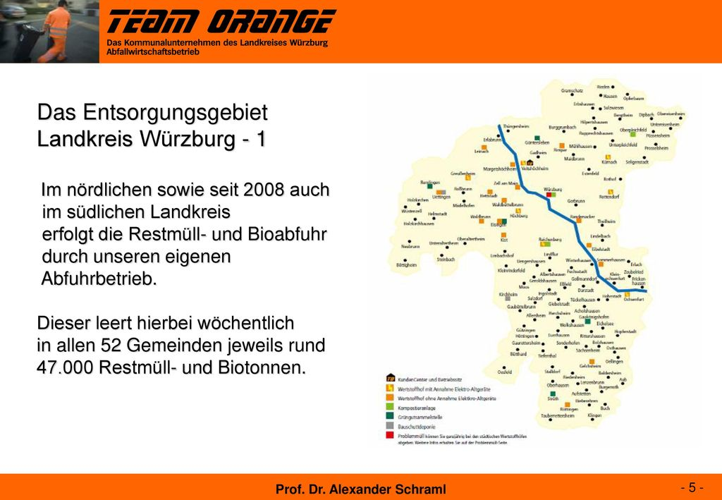 Das Entsorgungsgebiet Landkreis Würzburg - 1