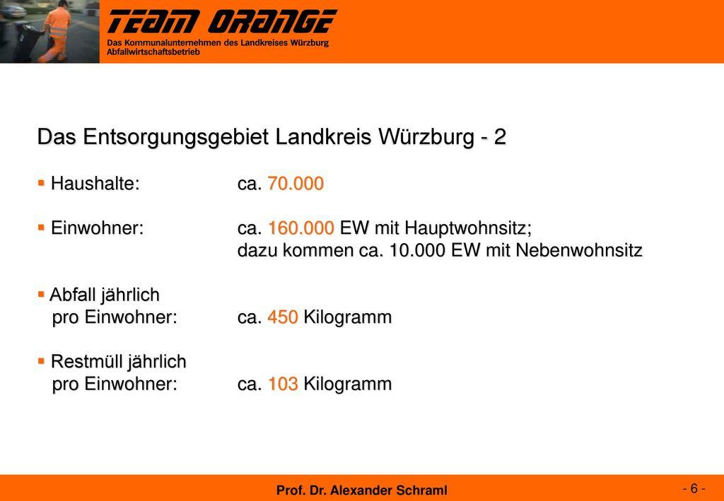 Das Entsorgungsgebiet Landkreis Würzburg - 2