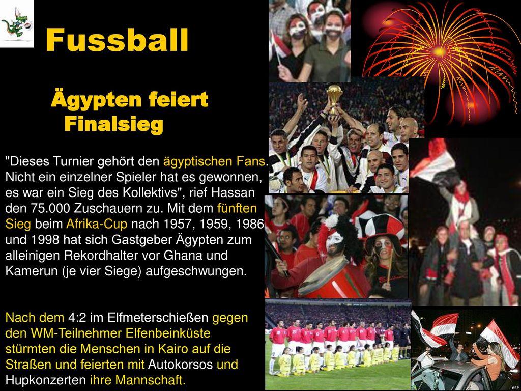 Fussball Ägypten feiert Finalsieg