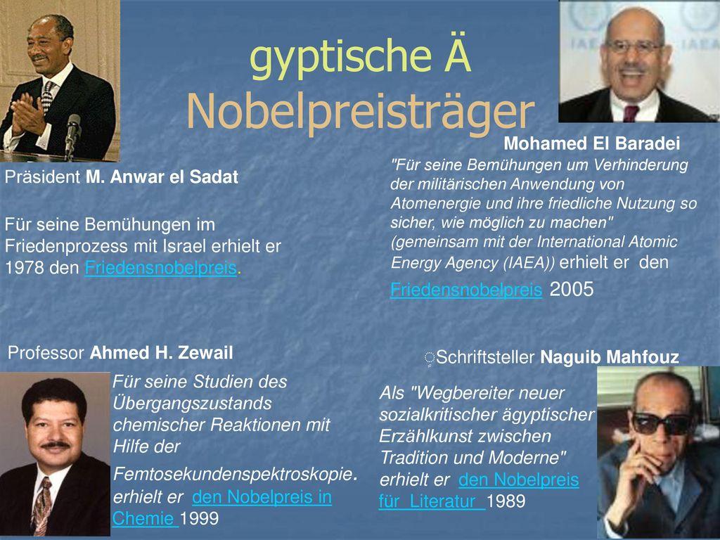 gyptische Ä Nobelpreisträger