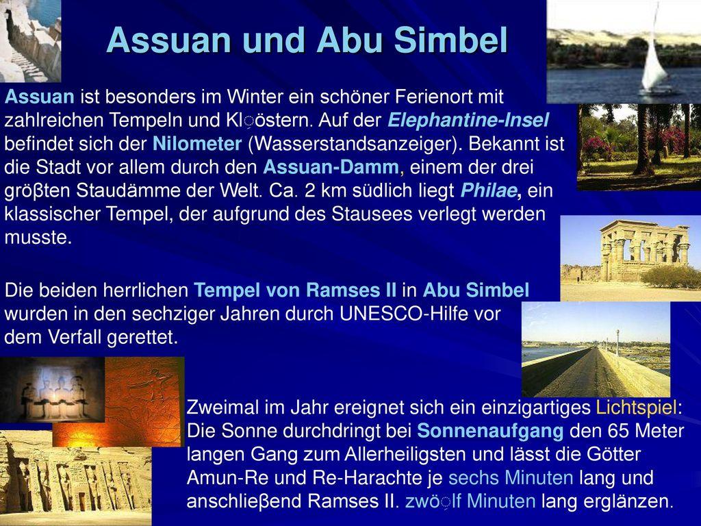 Assuan und Abu Simbel