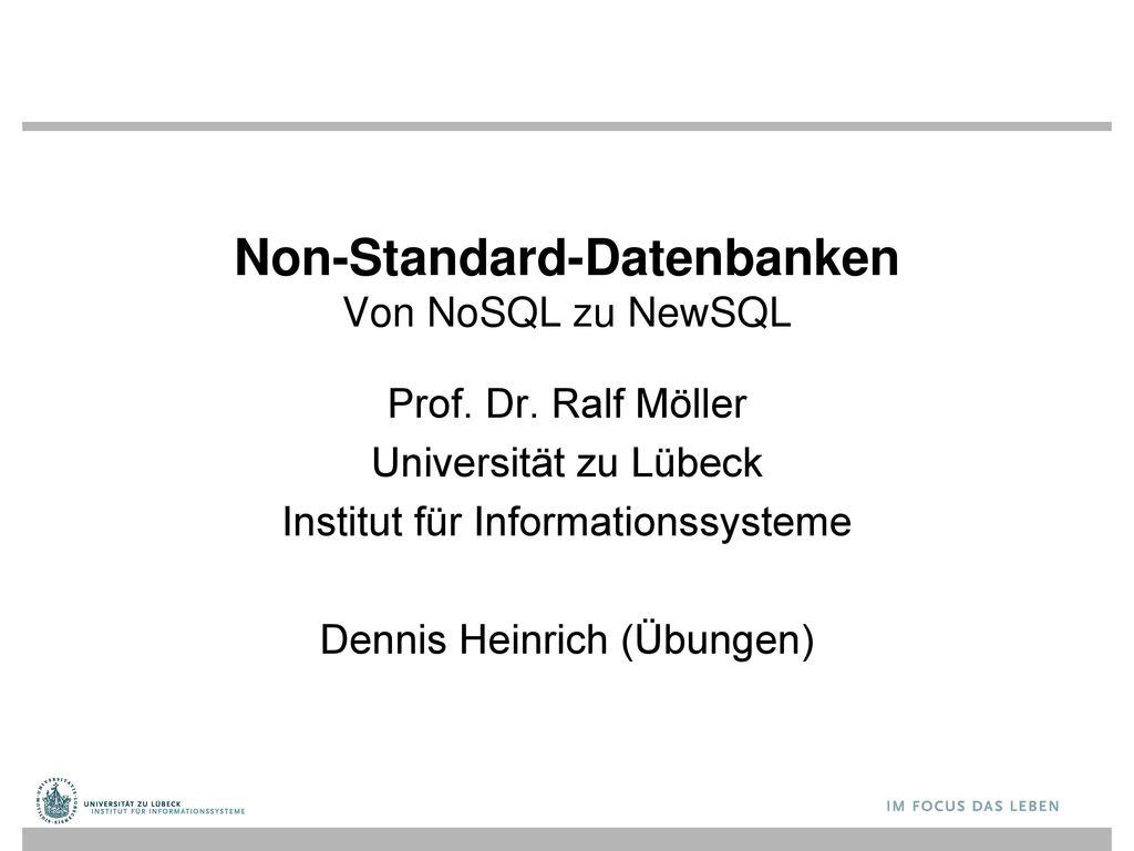 Non-Standard-Datenbanken Von NoSQL zu NewSQL