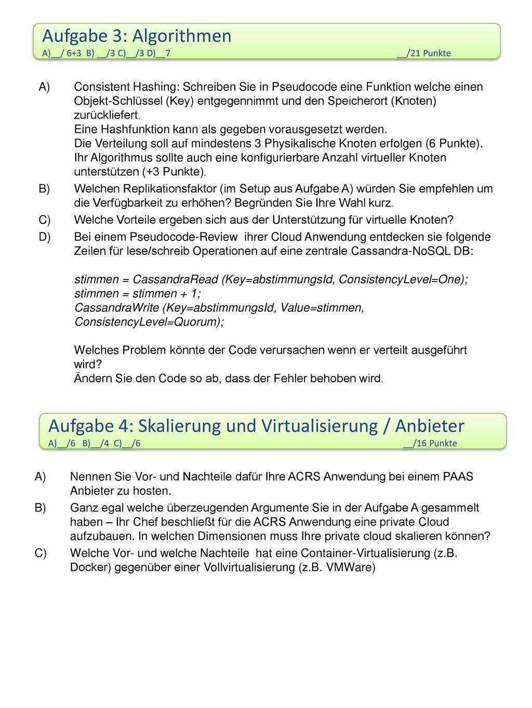 Aufgabe 4: Skalierung und Virtualisierung / Anbieter