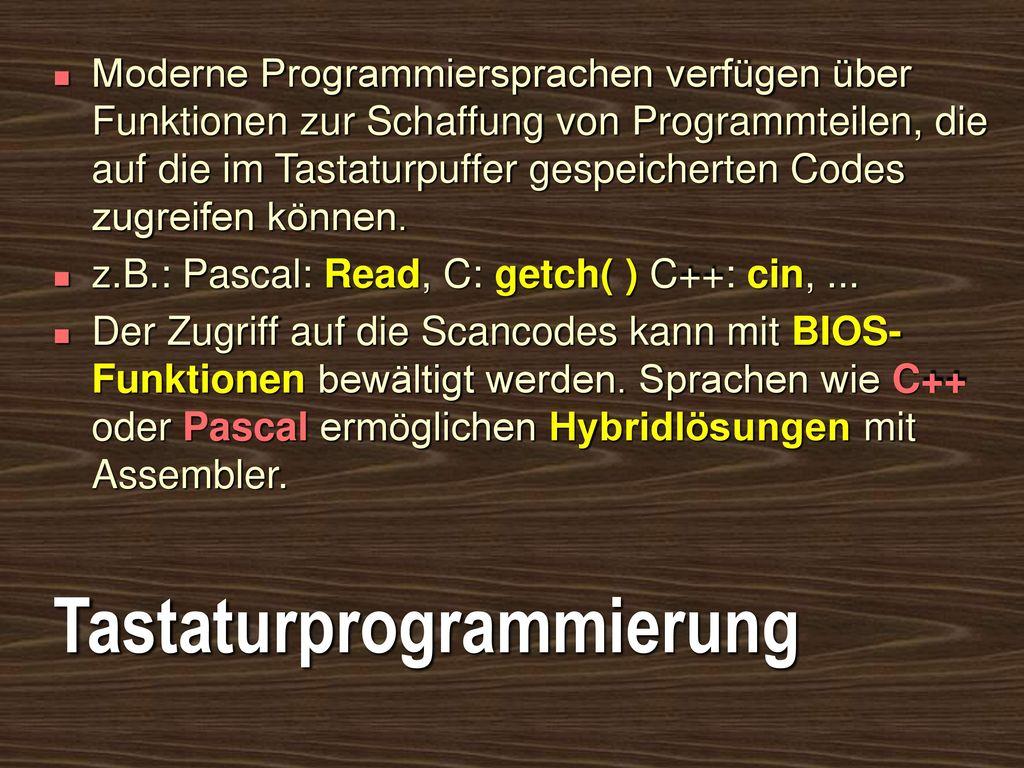 Tastaturprogrammierung